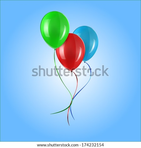 Colored balloons - stock vector