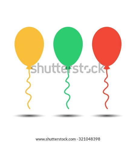 colored balloons set - stock vector