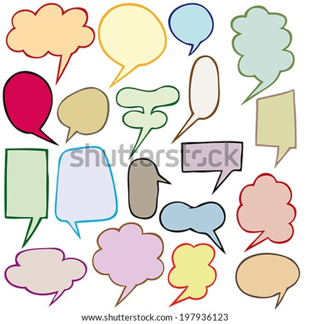 Colored balloons speech - Vector Illustration