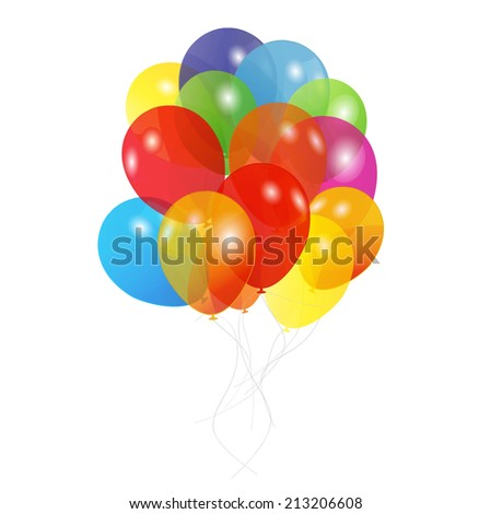 Colored Balloons, Vector Illustration EPS10 - stock vector