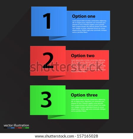 Colored banners - stock vector