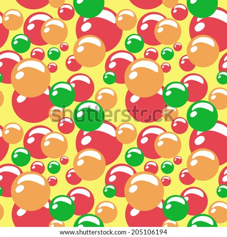 colored beads. seamless pattern - stock vector