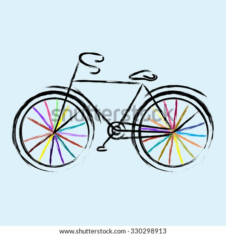 Colored bicycle.