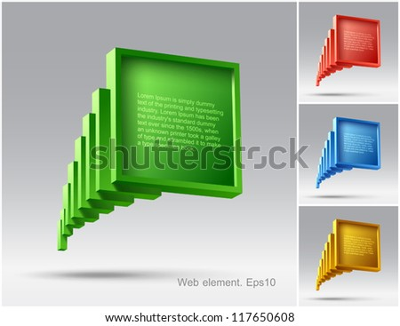 Colored bubbles, web element design, vector, website - stock vector