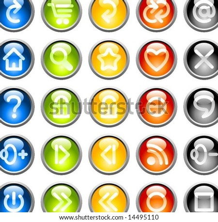 Colored buttons. Contains 5 extra layers with the different colors.