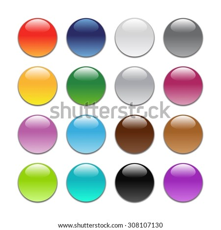 Colored buttons for icons.