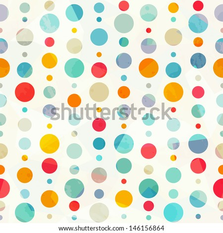 colored circle seamless pattern - stock vector