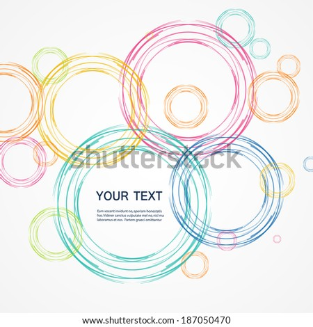 Colored circles on a bright background - stock vector