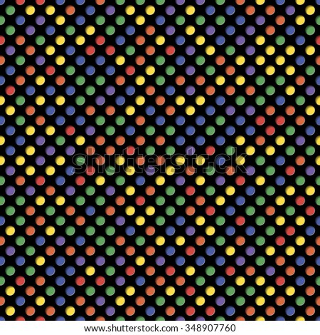 Colored circles with shadow. Seamless pattern