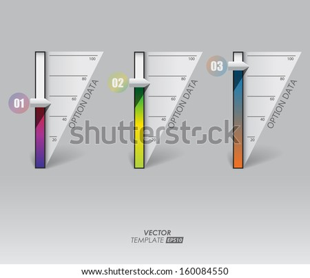 Colored columns for the presentation of indicators / modern design infographics