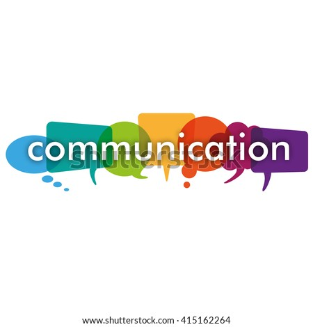 Colored communication bubbles on the white background. Eps 10 vector file. - stock vector
