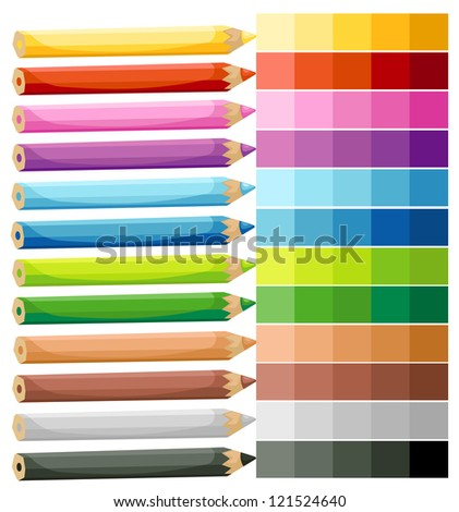 Colored Crayons.vector illustration