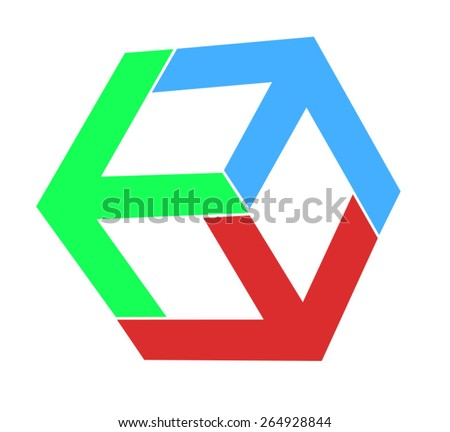 colored cubes - stock vector