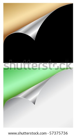 colored curls - stock vector