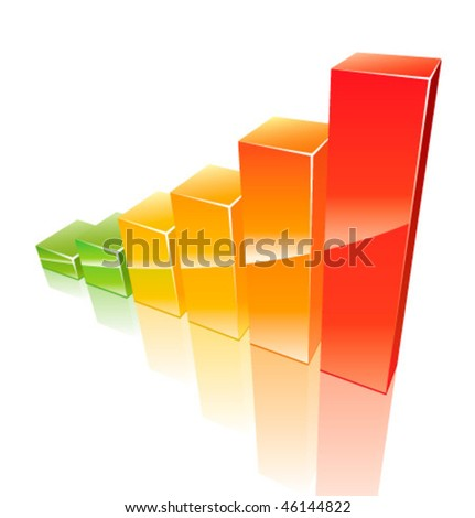 Colored 3d graph growing up