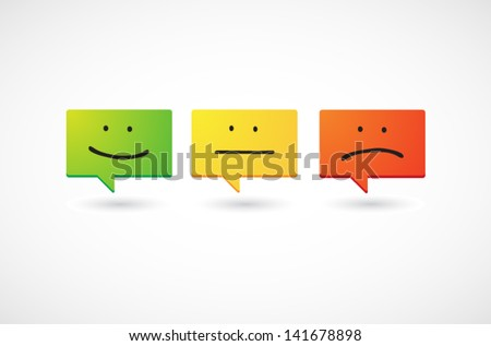 Colored emoticons - stock vector