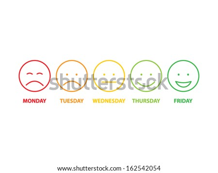 Colored faces - stock vector