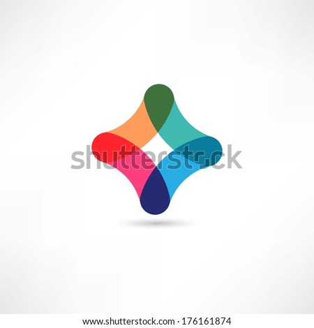 Colored figure - stock vector