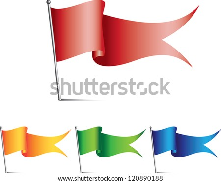 colored flags - stock vector