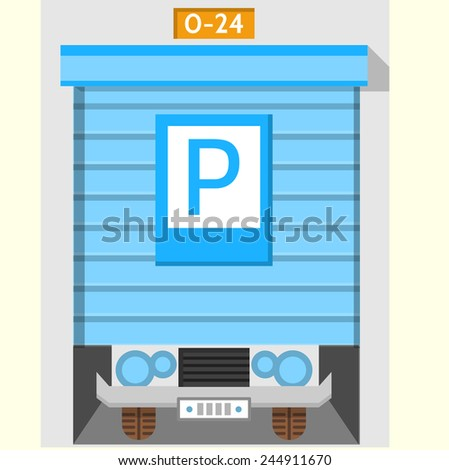 Colored flat vector icon for parking gate flat colorful vector icon