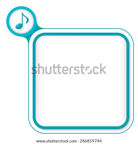 Colored frame for your text and music icon - stock vector