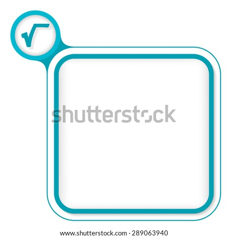 Colored frame for your text and radix - stock vector