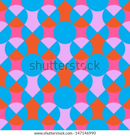 Colored geometric pattern - stock vector