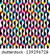 Colored geometric pattern. Seamless abstract background. EPS 10 vector illustration. Grunge effect can be removed. - stock photo
