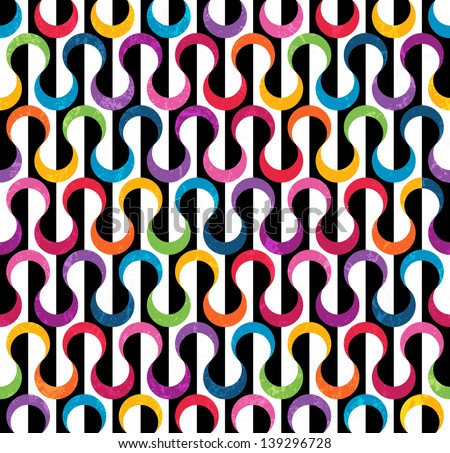 Colored geometric pattern. Seamless abstract background. EPS 10 vector illustration. Grunge effect can be removed. - stock vector