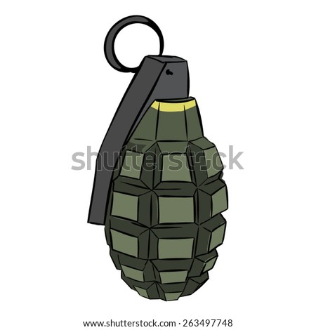 Colored hand grenade. EPS10 vector illustration - stock vector