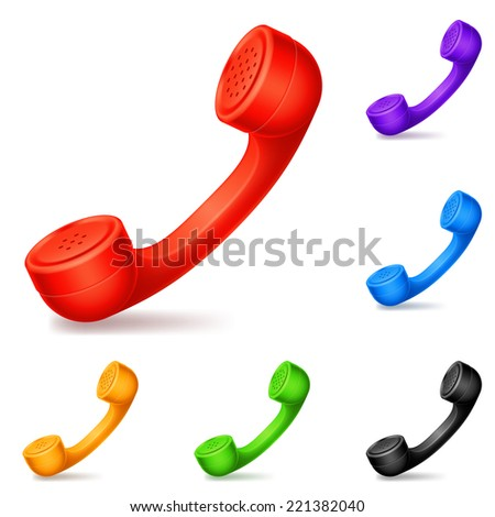 Colored handsets. - stock vector