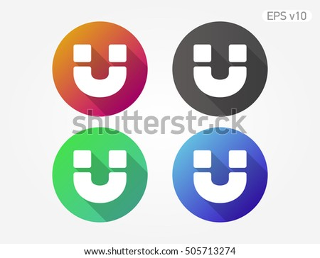 Colored Icon Magnet Symbol Shadow Stock Vector 505713274 - Shutterstock