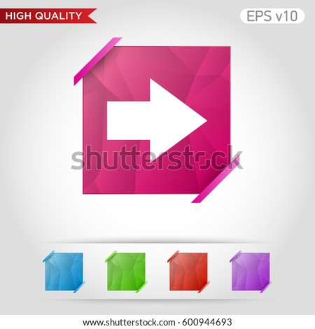 Colored Icon Button Right Arrow Symbol Stock Vector Hd Royalty Free