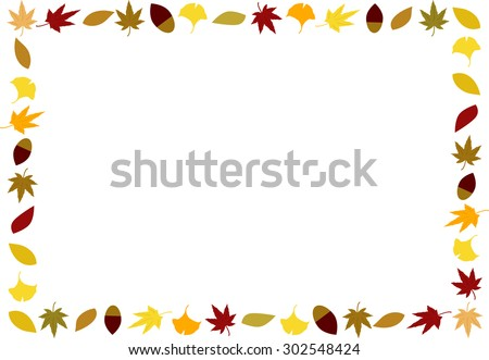 colored leaves frame - stock vector