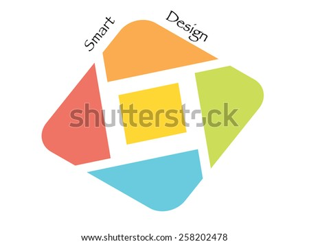 colored logo design isolated on white background  - stock vector