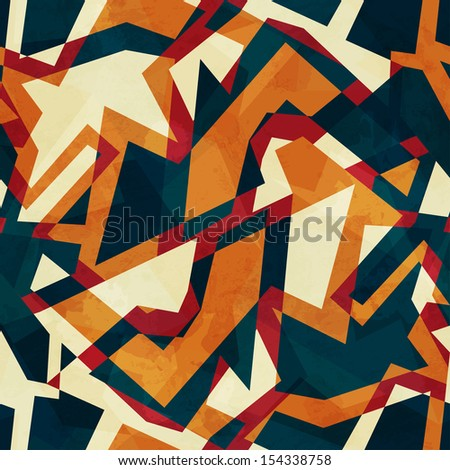 colored mosaic seamless pattern - stock vector