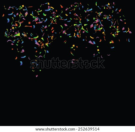 Colored paper on  the black background. Vector  - stock vector