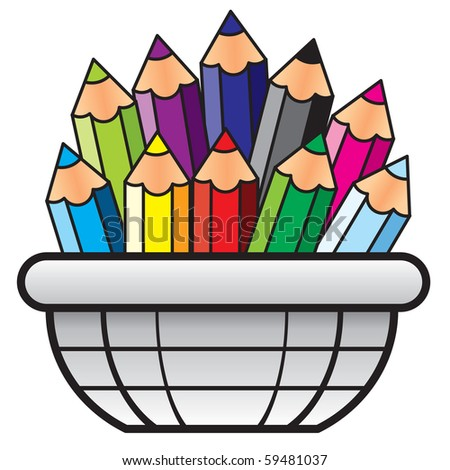 Colored Pencil VECTOR - stock vector