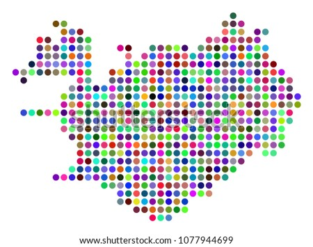 Colored Pixel Iceland Map Vector Geographic Stock Vector 1077944699 ...