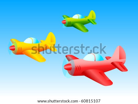 Colored planes - stock vector