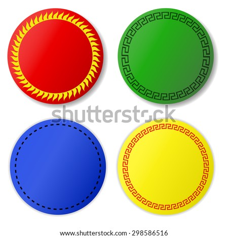 Round Shape Stickers