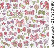 Colored seamless candy pattern for your design. Vector illustration - stock vector