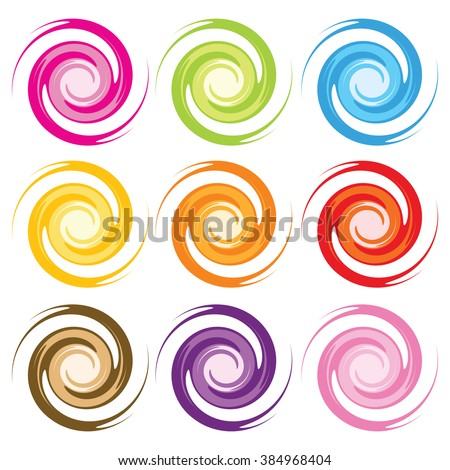 Colored spirals
