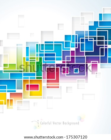 Colored squares design abstract background. - stock vector