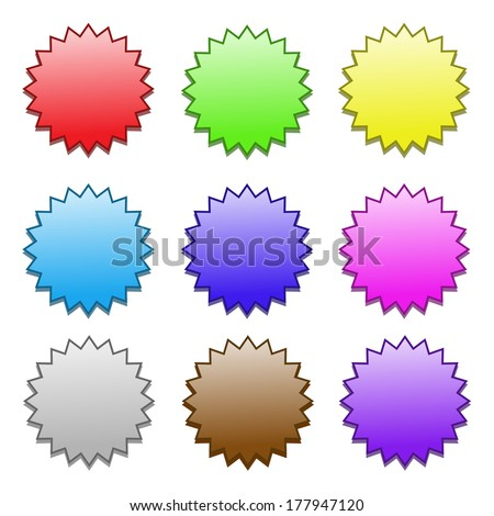 colored stocks pattern on white background