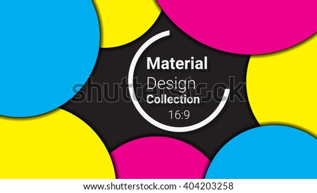 colored template for presentation in 16:9 format. vector illustration. designed for business background, education, web, brochure. abstract creative concept layout template in cmyk  colors - stock vector