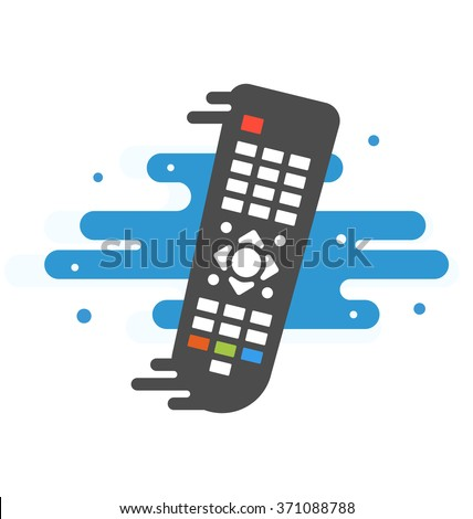 Colored TV remote controller  TV remote controller  on transparent background Simple illustration Related to watching TV, The Media and Remote control for Your Design  - stock vector