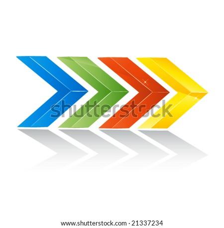 colored vector arrows - stock vector