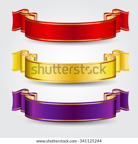 Colored vector ribbons - stock vector