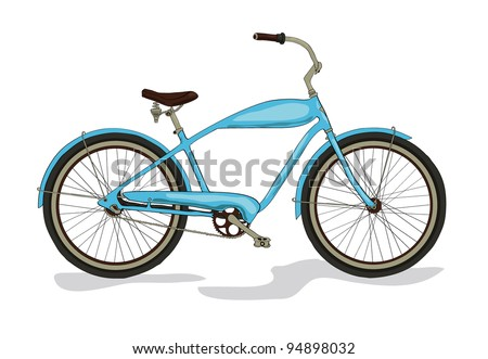 colored vintage bicycle